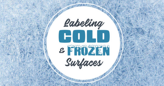Labeling Cold and Frozen Surfaces